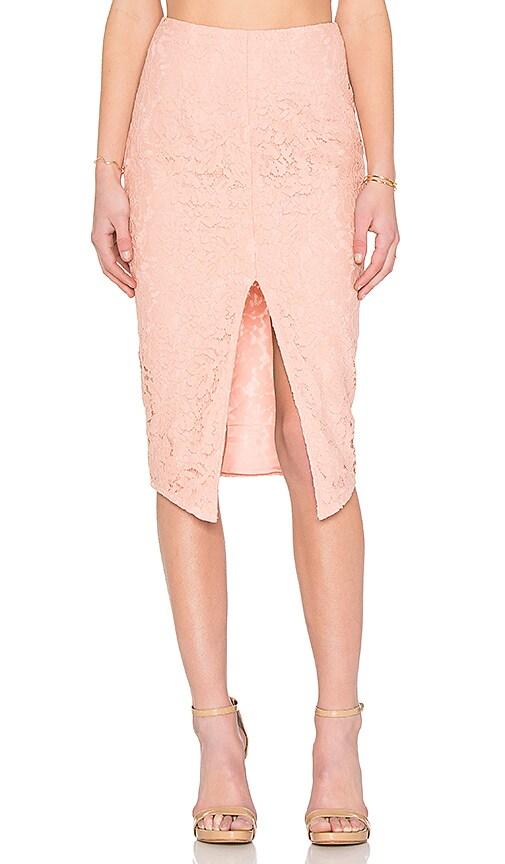 SAU Zoe Lace Pencil Skirt in Dusty Rose