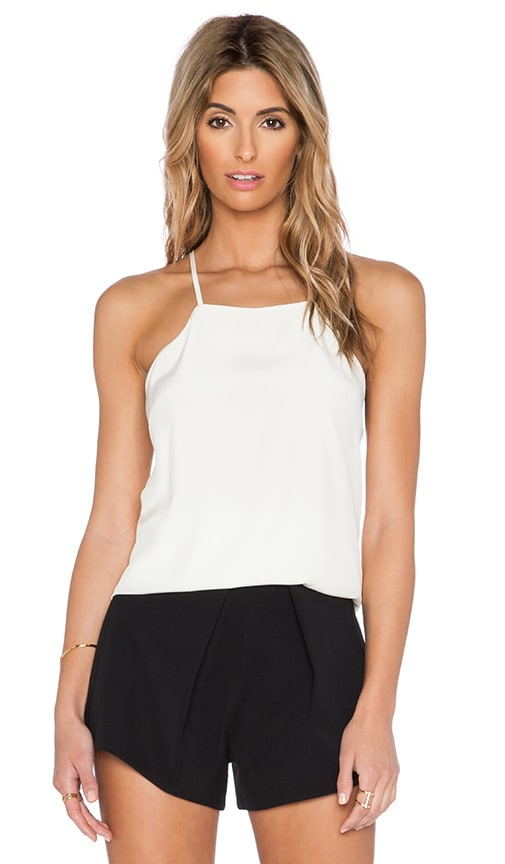 SAU Kara Silk Tank in White