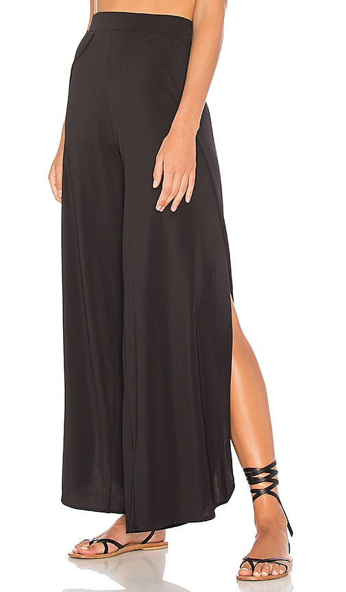 Sauvage Wide Leg Pants in Black