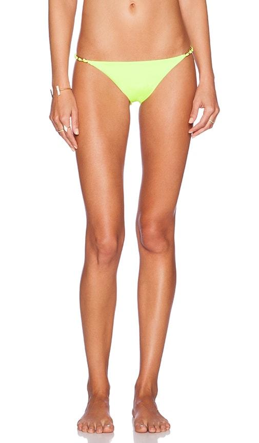 Sauvage Lotus Bikini Bottom in Limon