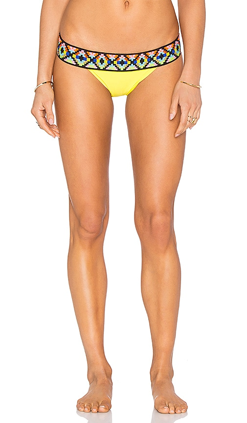 Sauvage Tribal Banded Rio Bottom in Yellow