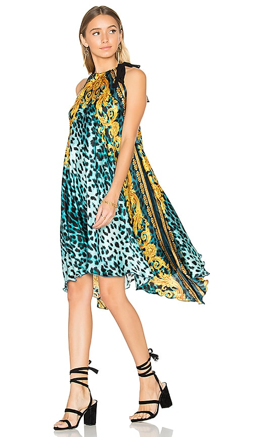 Sauvage Silk Palazzo Dress in Blue