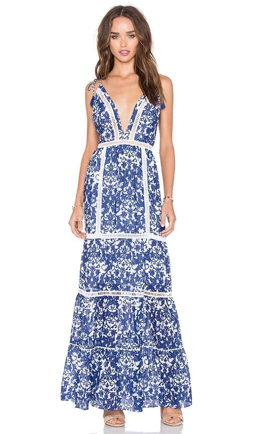 SAYLOR Anna Dress in Blue