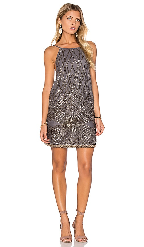 SAYLOR Goldy Dress in Gray