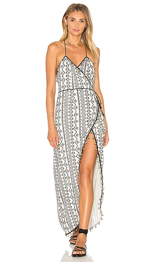SAYLOR Jeri Dress in White & Black