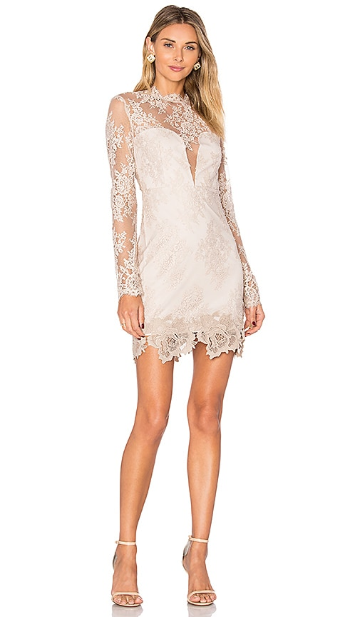 SAYLOR Leondra Dress in Beige