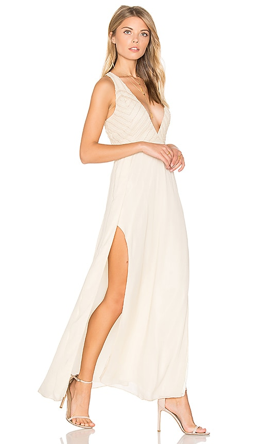 SAYLOR Lotus Dress in Beige