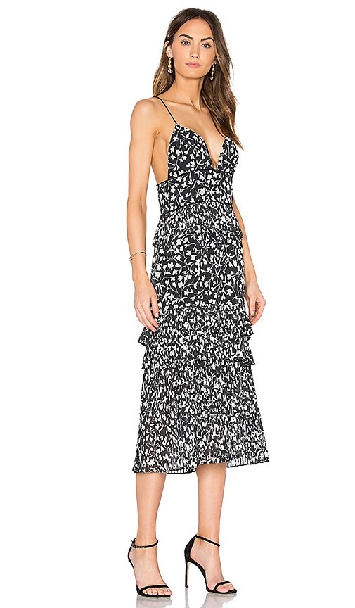 SAYLOR Brooke Slip Dress in Black