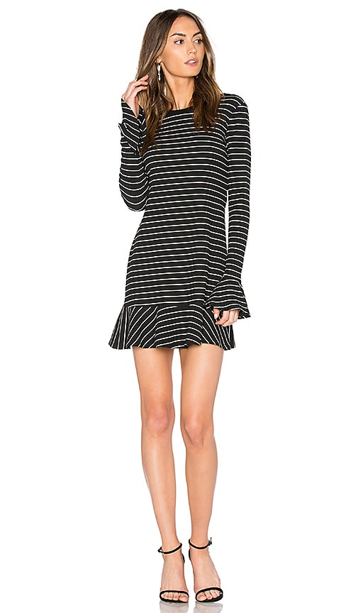 SAYLOR Tessa Ruffle Sleeve Dress in Black & White