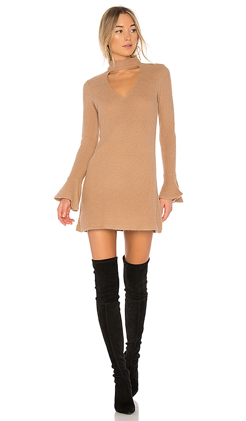 SAYLOR Sienna Bell Sleeve Dress in Tan