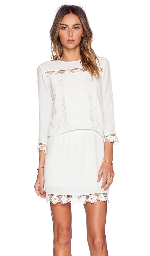 SAYLOR Leora Dress in White