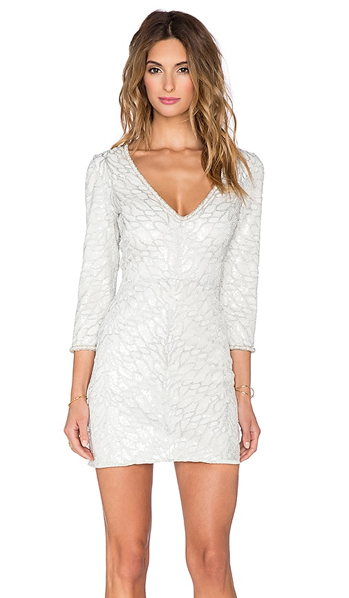 SAYLOR Naomi Sequin Dress in White