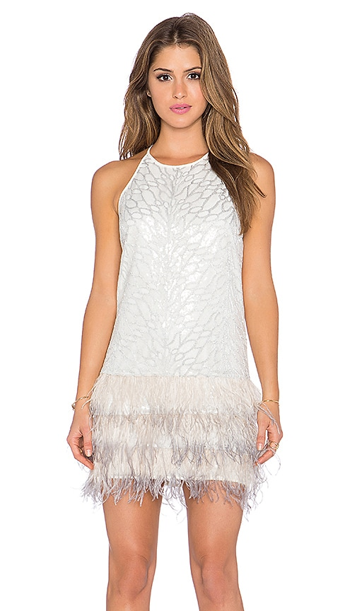 SAYLOR Emily Sequin Dress in Platinum