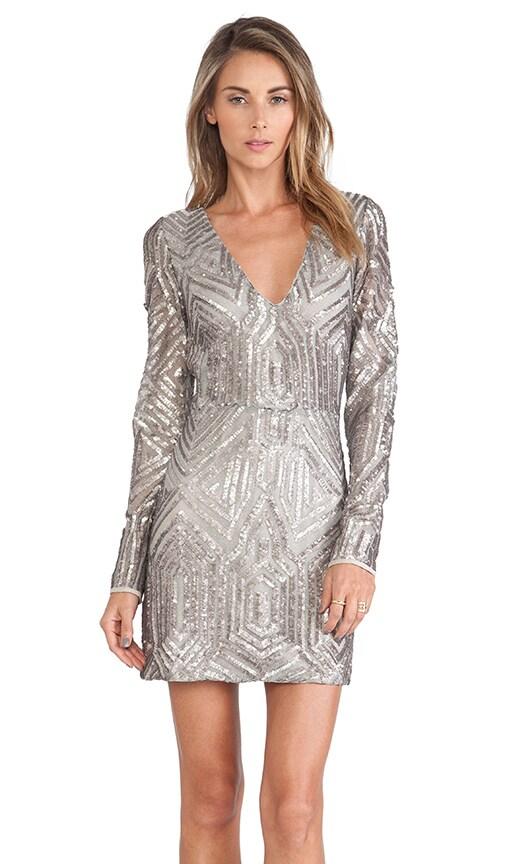 SAYLOR Naomi Sequin Dress in Platinum