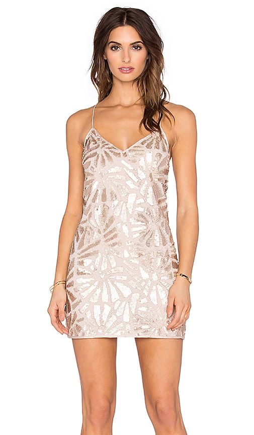 SAYLOR Talia Sequin Dress in Rose Gold
