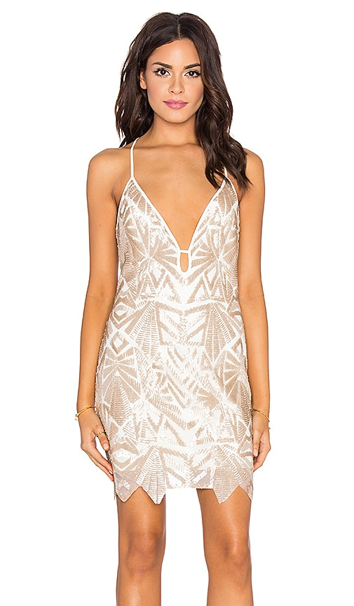 SAYLOR Harper Mini Dress in Metallic Gold