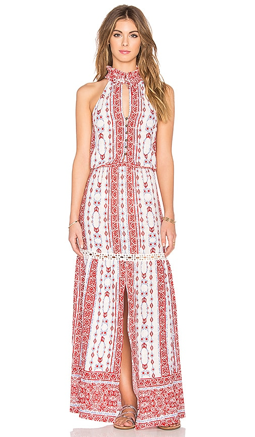 SAYLOR Anaya Maxi Dress in Red