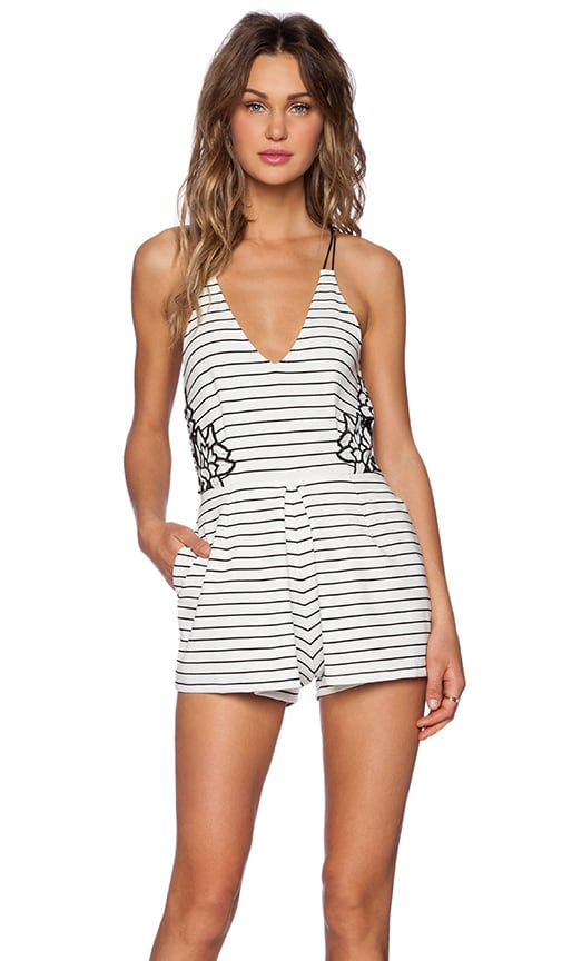 SAYLOR Madison Romper in Black & White