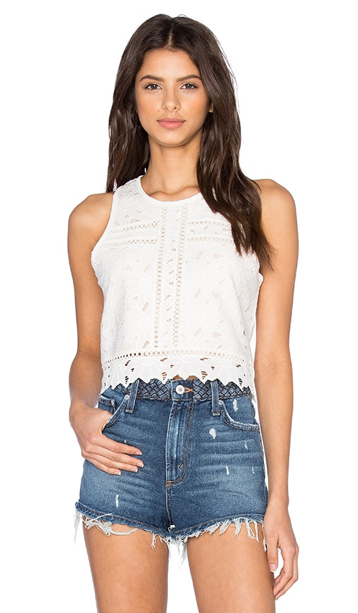 SAYLOR Adria Top in Ivory