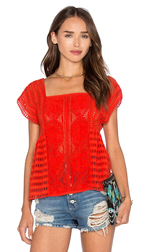 SAYLOR Gala Top in Red