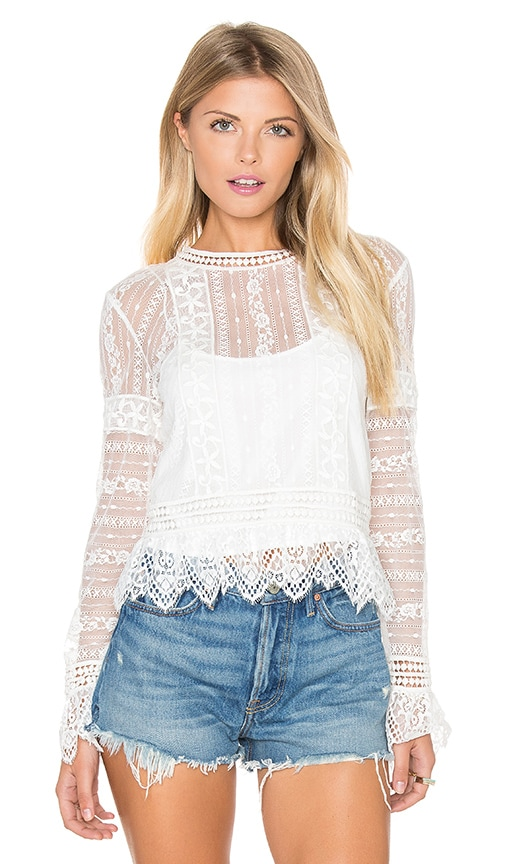 SAYLOR Gwenyth Top in White
