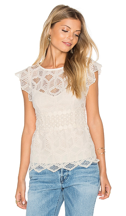 SAYLOR Sabina Top in Ivory