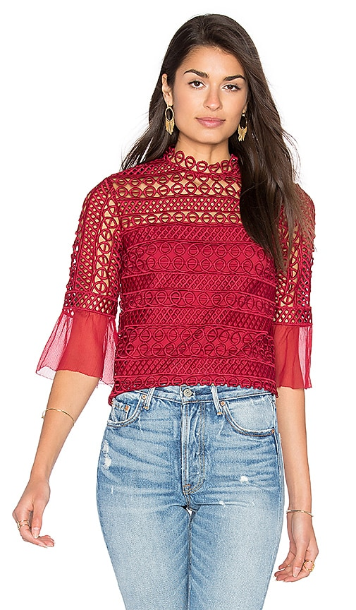 SAYLOR Estelle Top in Red