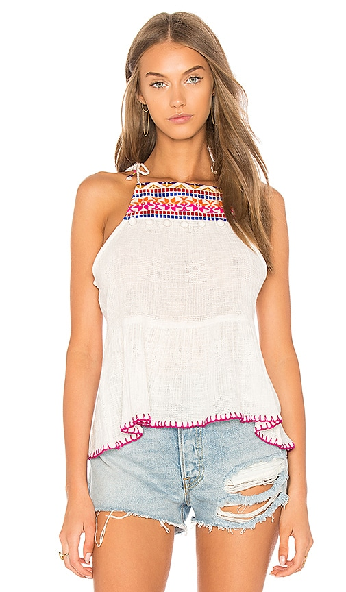 SAYLOR Cecily Top in Ivory