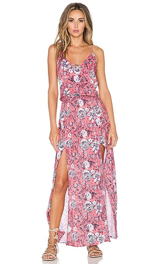 Vix Swimwear Maxi Dress in Jardin Pink