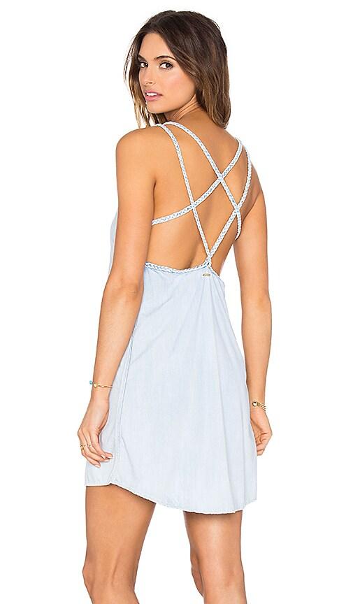 SOFIA by ViX Braid Mini Dress in Blue