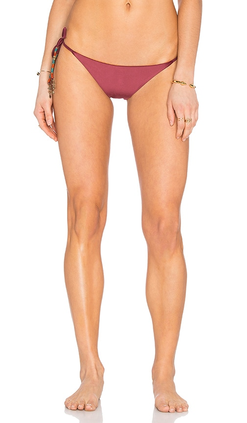 SOFIA by ViX Reversible Side Tie Bikini Bottom in Burgundy