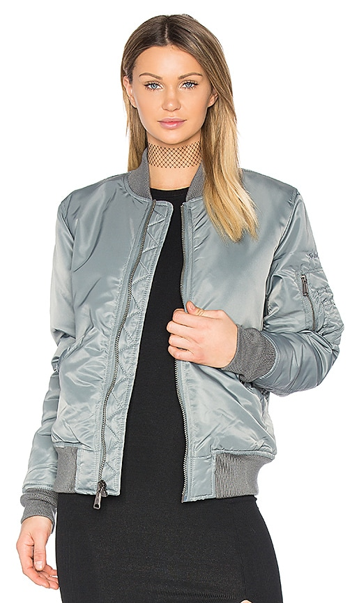 Schott Nylon Flight Jacket in Gray