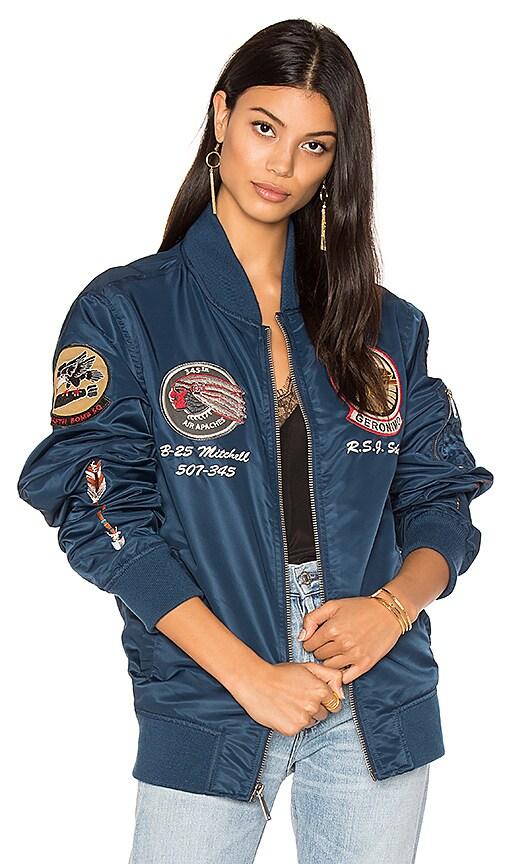 Schott Flight Jacket in Blue