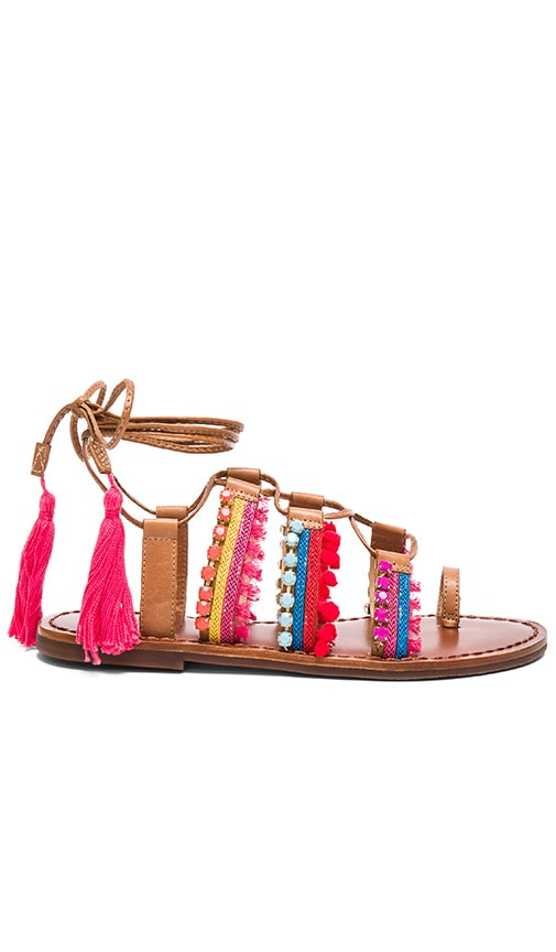 Schutz Patrica Sandal in Bamboo & Hawaii & Paradise