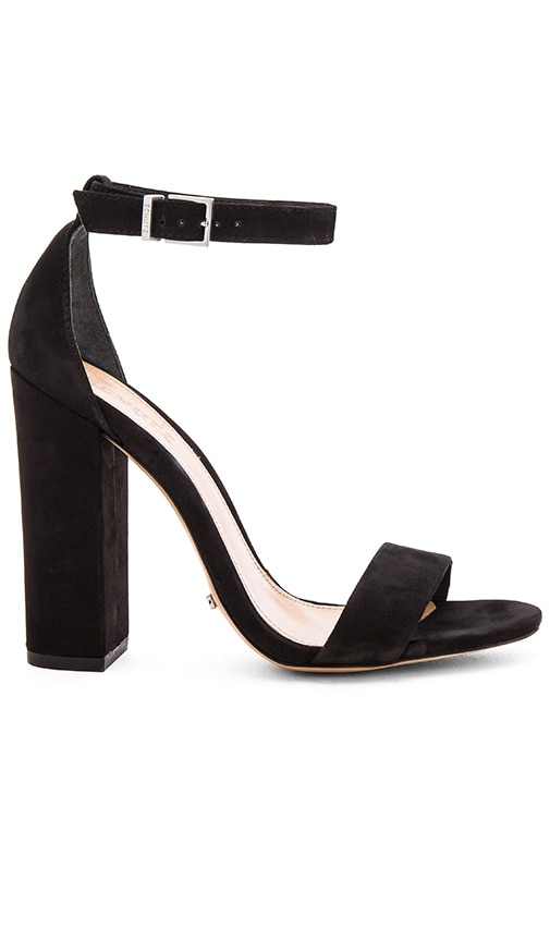 SCHUTZ Women'S Enida Nubuck Leather High Block Heel Sandals in Black