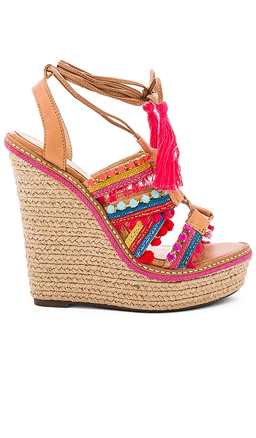 Schutz Mella Wedge in Tan