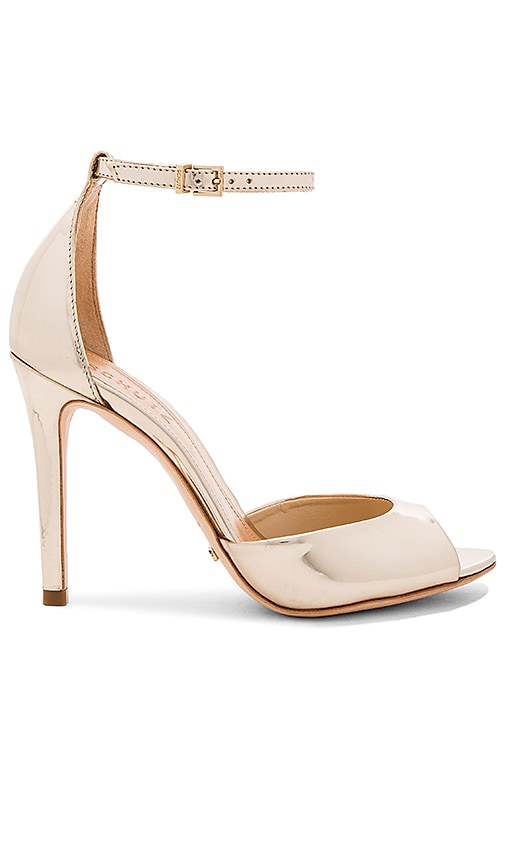 Schutz Saasha Lee Heel in Metallic Gold