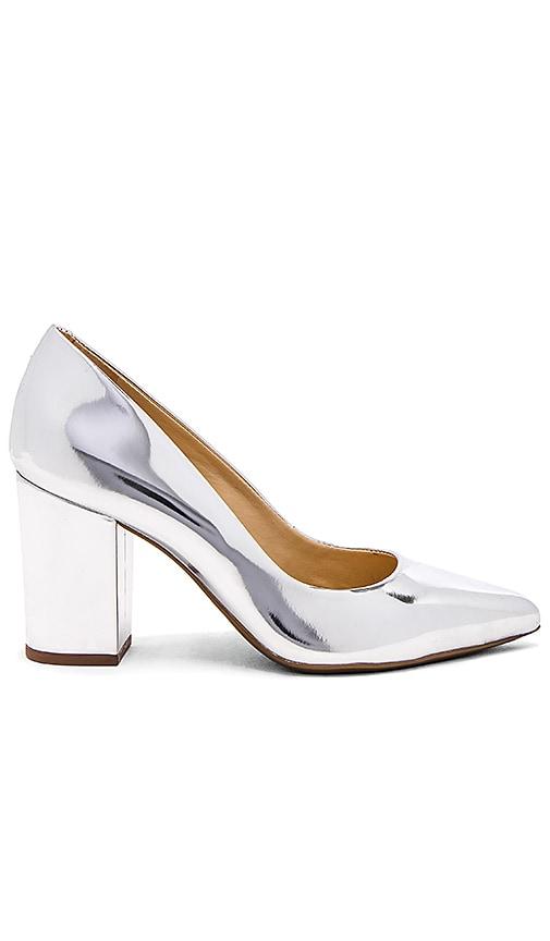 Schutz Moranita Heel in Metallic Silver
