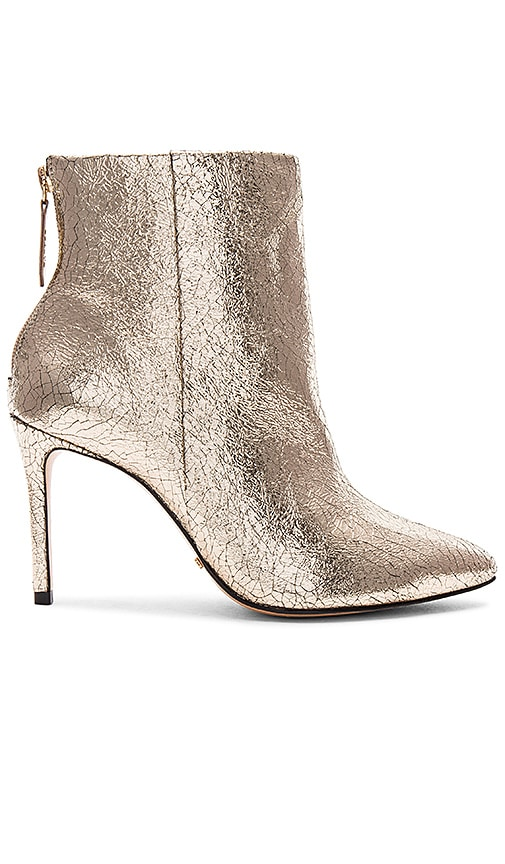 Schutz Ginny Bootie in Metallic Gold