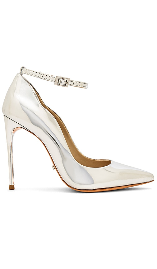 Schutz Thaynara Heel in Metallic Silver