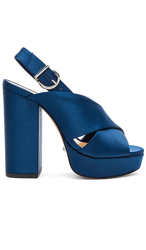 Schutz Millie Platform in Navy