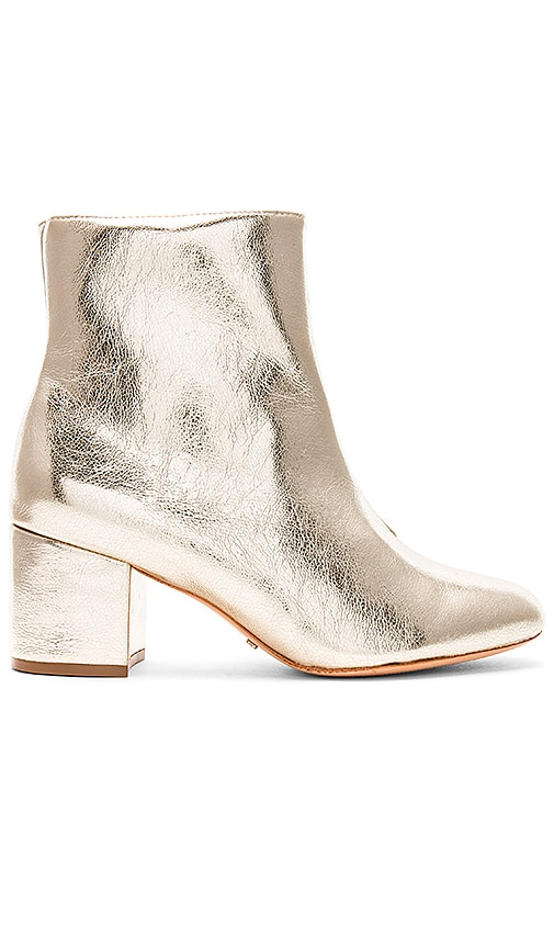 Schutz Lupe Bootie in Metallic Gold