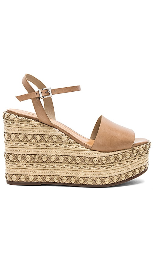 Schutz Galaze Wedge in Taupe