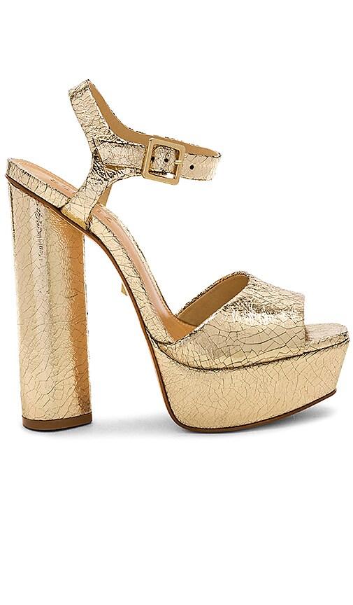 Schutz Jane Platform in Metallic Gold