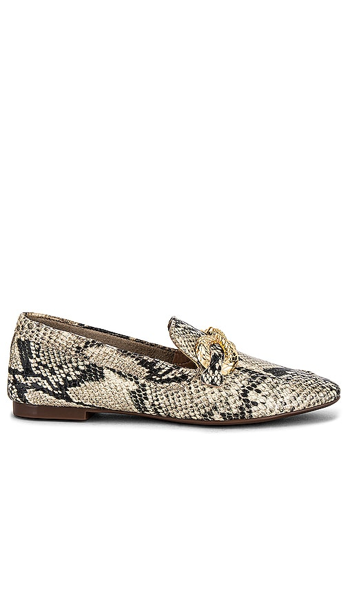 Schutz Maggy Embossed Loafer in Beige. - size 7 (also in 10, 6, 6.5, 7.5, 8, 8.5, 9, 9.5)