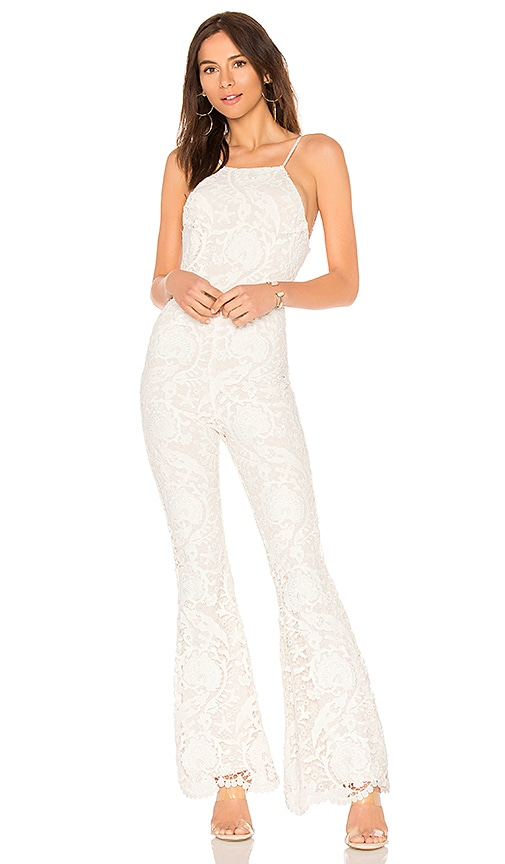 144a13101aed STONE COLD FOX Dylan Jumpsuit in White Lace