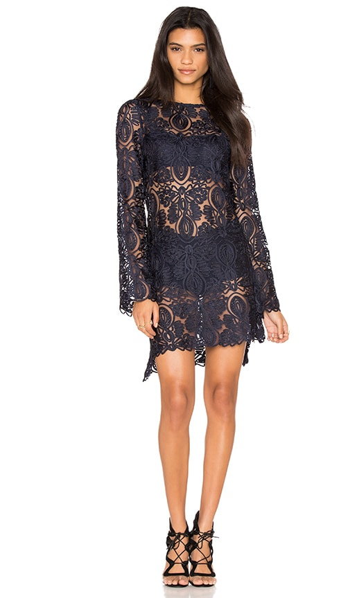 STONE_COLD_FOX Juliet Dress in Navy Lace
