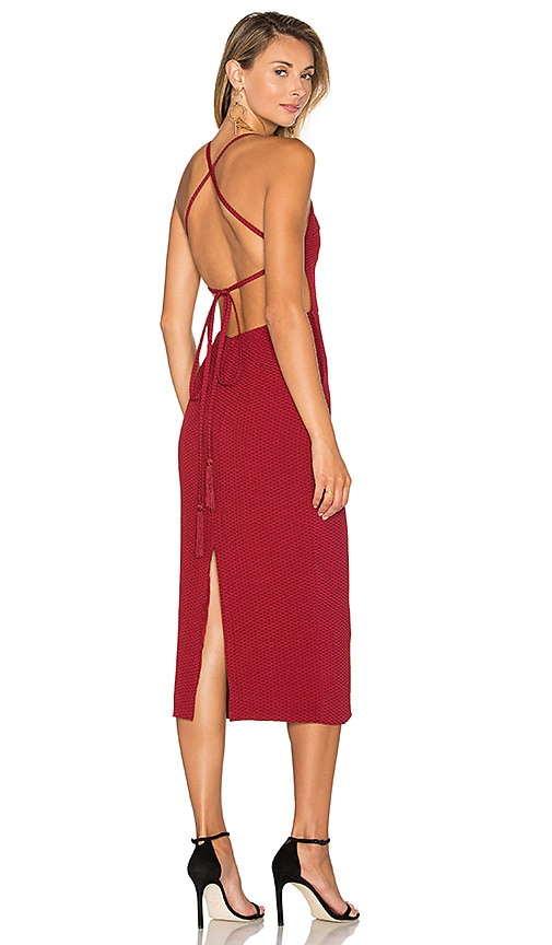STONE_COLD_FOX Camellia Dress in Red