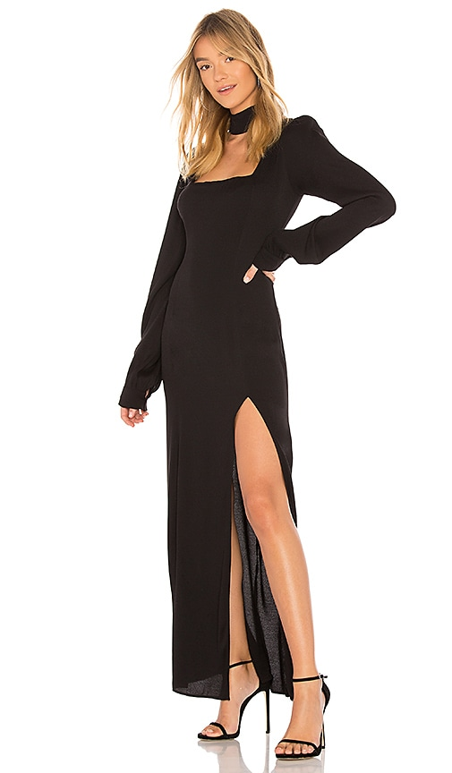 STONE COLD FOX Melrose Gown in Black