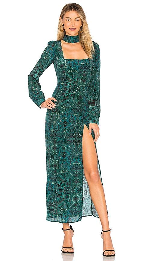 f180e04edea09 STONE_COLD_FOX Melrose Gown in Green Carpet | REVOLVE